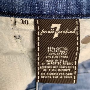 7 For All Mankind Jeans - 7FAM Straight Leg Denim Crops Size 30